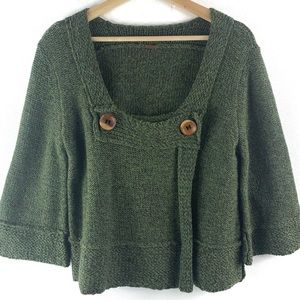 Free People Green Cropped Sweater